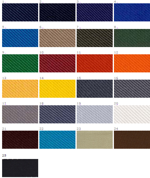 Paleta kolorów tkaniny elanobawełny